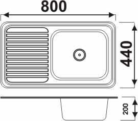 Chậu rửa bát Picenza TB4 (inox 304)