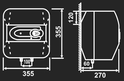 Bình nóng lạnh Picenza S10.E Titanium (Titanium, Rơle kép, Chống giật)