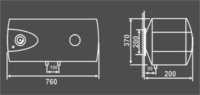 Bình nóng lạnh Picenza S40.E Titanium (Titanium chống giật)