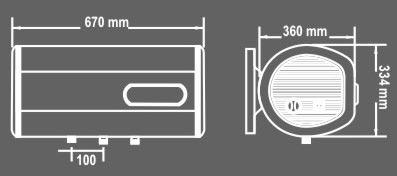 binh nong lanh picenzaN30ED kt Bình nóng lạnh Picenza N30ED Titanium (Bình ngang Tiết kiệm)
