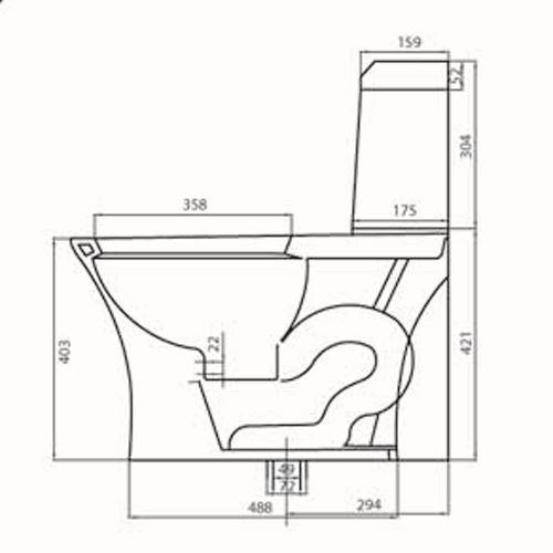 Bản vẽ kỹ thuật bồn cầu Viglacera V45