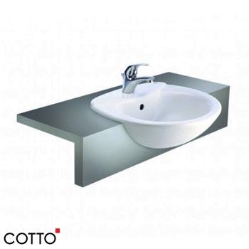 Chậu rửa bán âm bàn COTTO C0240