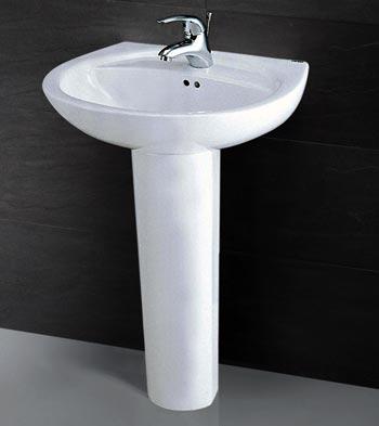 Chậu rửa chân đứng Caesar L2220+P2437