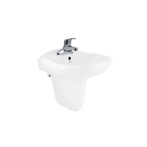 Bộ chậu rửa Lavabo treo tường Viglacera VTL3 + Chân lửng VI5