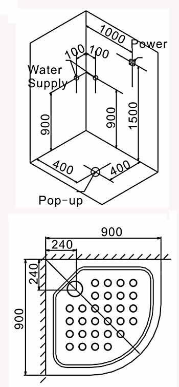 Bản vẽ lắp đặt kỹ thuật phòng xông hơi Euroking EU-8604