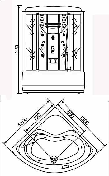 Phòng xông hơi Nofer VS-808ABS (Xông ướt, Massage, Sục khí)