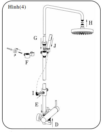 Sen cây tắm buồng vách kính cao cấp Inax BFV-70S