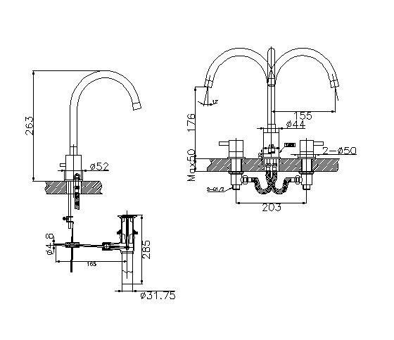 Bộ vòi rửa bồn tắm cao cấp Inax LFV-7000B