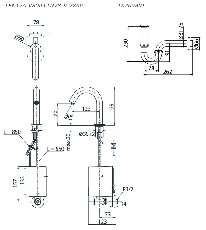 Vòi cảm ứng TOTO TEN12AV800/TN789V800
