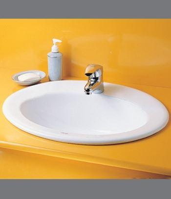 Chậu rửa Lavabo đặt âm bàn Caesar L5020S (1 lỗ)