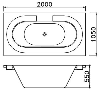 Bản vẽ kỹ thuật lắp đặt bồn tắm xây massage CAESAR MT212