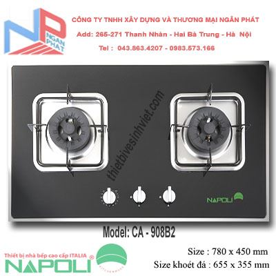 Bếp gas âm Napoli CA-908B2