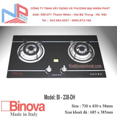 Bếp gas âm Binova BI-238-DH