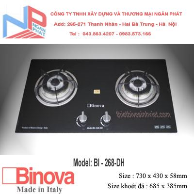Bếp gas âm Binova BI-268-DH