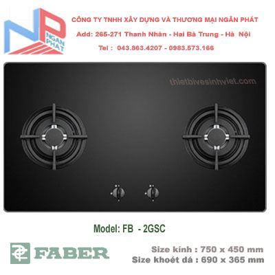 Bếp gas âm Faber FB-2GSC