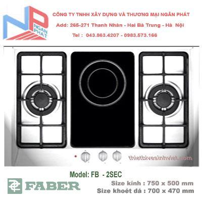 Bếp gas âm Faber FB-2SEC