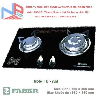 Bếp gas âm Faber FB-2SM