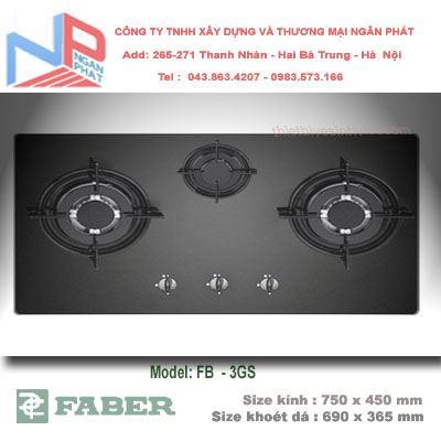 Bếp gas âm Faber FB-3GS