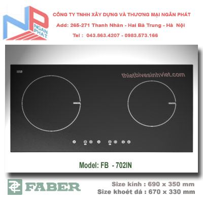 Bếp gas âm Faber FB-702IN