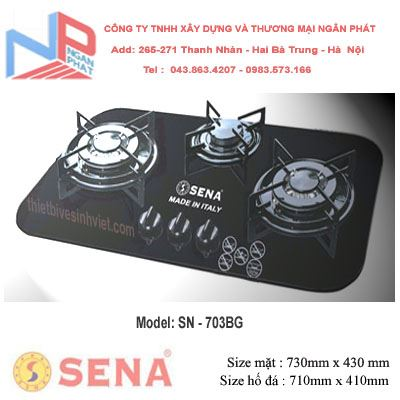 Bếp gas âm SENA SN-703BG