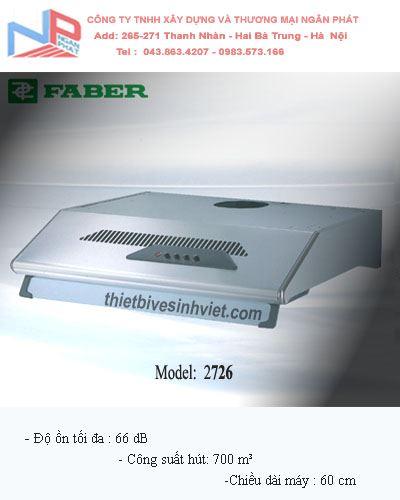 Máy hút khói khử mùi Faber 2726 (dài 60 cm)