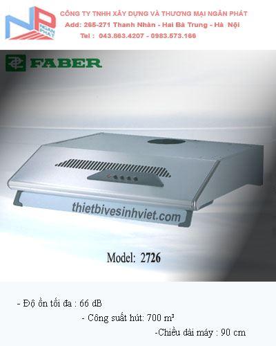Máy hút khói khử mùi Faber 2726 (dài 90 cm)