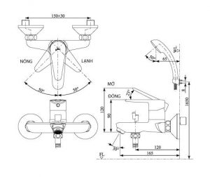 Ban ve lap dat Inax INAX BFV 1103S 300x252 Sen tắm nóng lạnh tay sen Massage INAX BFV 1103S