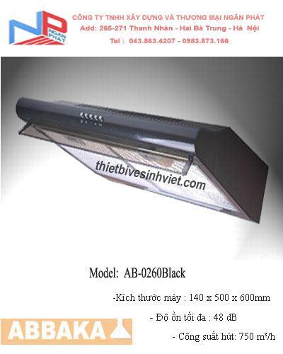 Máy hút khử mùi Abbaka AB-0260 Black