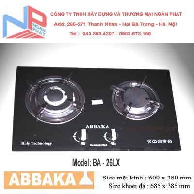 Bếp gas âm Abbaka AB-26LX