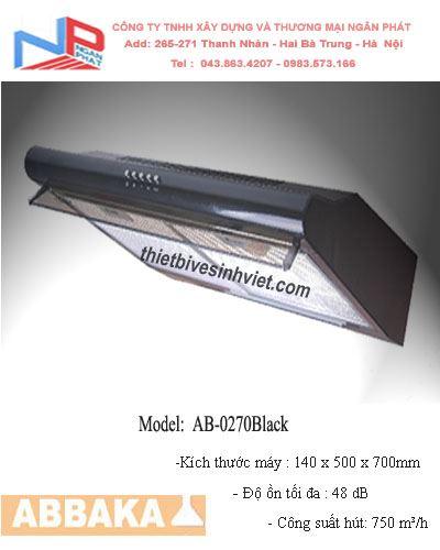 Máy hút khử mùi Abbaka AB-0270 Black