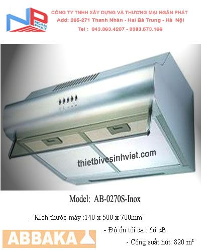 Máy hút khử mùi Abbaka AB-0270S-Inox