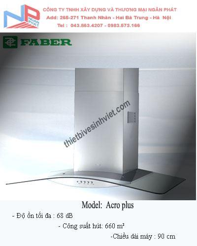 Máy hút khói khử mùi Faber Acro Plus (dài 90cm)