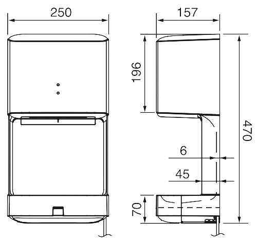 Bản vẽ kỹ thuật máy sấy khô tay Panasonic FJ-T09A3