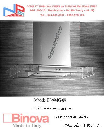 Máy hút khử mùi BINOVA BI-99-IG-09