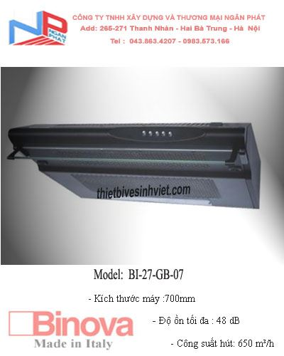 Máy hút khử mùi BINOVA BI-27-GB-07