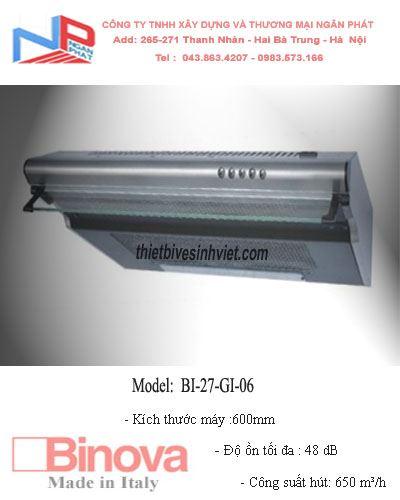 Máy hút khử mùi BINOVA BI-27-GI-06
