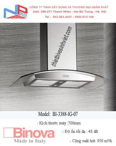 Máy hút khử mùi BINOVA BI-3388-IG-07