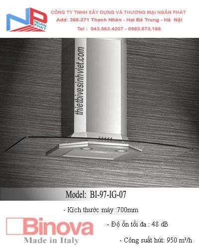 Máy hút khử mùi BINOVA BI-97-IG-07