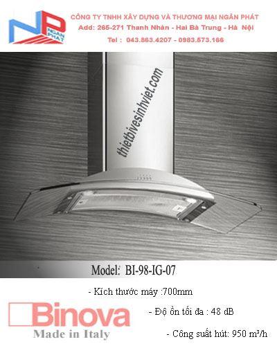 Máy hút khử mùi BINOVA BI-98-IG-07