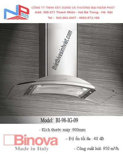 Máy hút khử mùi BINOVA BI-98-IG-09