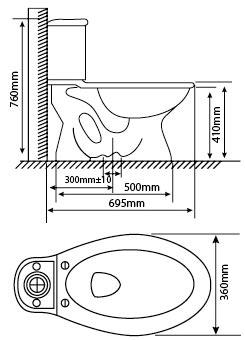 Bồn cầu 2 khối Hảo Cảnh HC V02N1