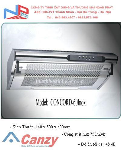 Máy hút khử mùi CANZY CONCORD-60Inox