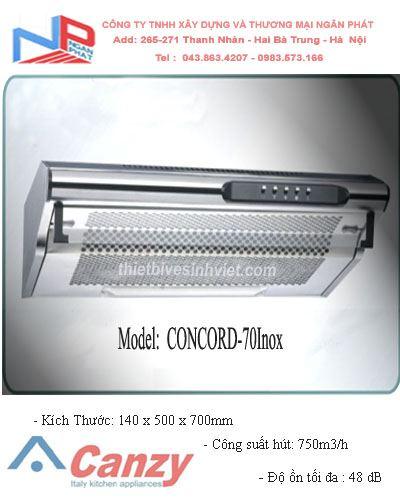 Máy hút khử mùi CANZY CONCORD-70Inox