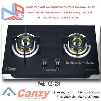 Bếp gas âm Canzy CZ-233