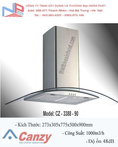 Máy hút khử mùi CANZY CZ-3388-90