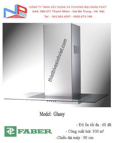 Máy hút khói khử mùi Faber Glassy (dài 90cm)