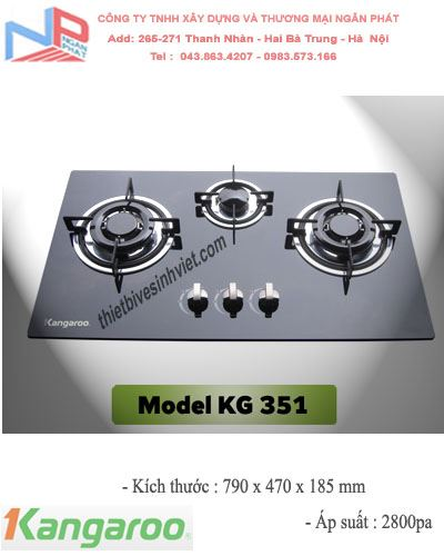 Bếp gas âm Kangaroo KG-351