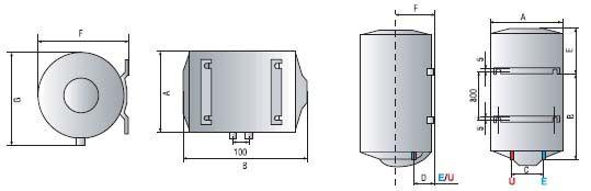 Bình nóng lạnh Ariston 100L Treo ngang (Titanium Chống giật)
