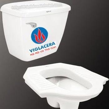 Xí xổm kết hợp két nước treo tường Viglacera Monaco ST8 + VI15
