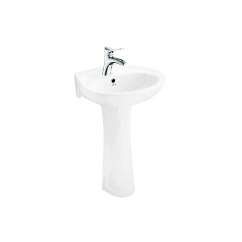 Bộ chậu rửa lavabo chân đứng Viglacera VTL2 + VI1T